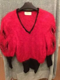 Lovely classy mohair jumper in red