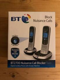 BT 2700 Twin Nuisance Call blocker phone