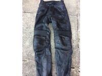"""""""RICHA"""" LEATHER MOTORCYCLE TROUSER,S=SIZE 8=VGC"""