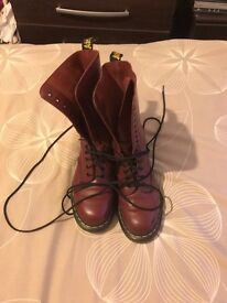 14 eyelet cherry red doc martins size 6.5