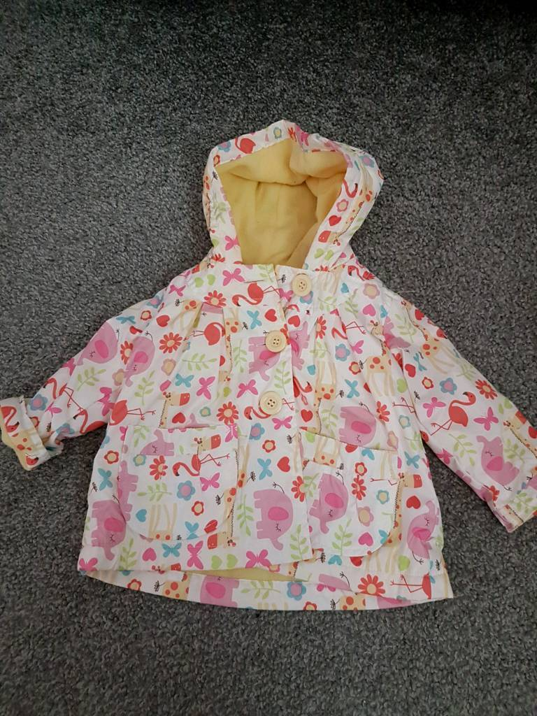 3-6 month girls rain coat