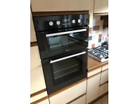 Hotpoint double oven.