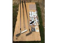 Golf clubs and ball and more £15 the lot
