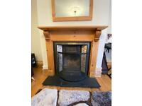 victorian fireplace/ Old Fireplace/ Cast Iron Fireplace