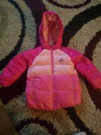 Girls adidas padded jacket 3-4