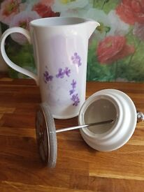 Portmerion Lilac Meadow Cafetiere - Vintage Tea Party