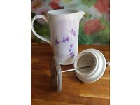 Portmerion Lilac Meadow Cafetiere - Vintage Tea Party