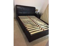 Next Marie faux leather storage bed king size