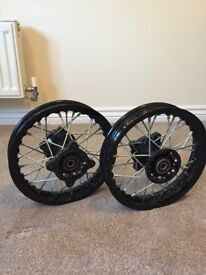 "Pitbike Wheels Rims - Front & Rear 10"" Pit bike Wheels with Bearings"