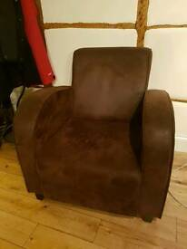 club chair suede armchair