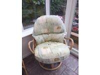 Two conservatory chairs and sofa