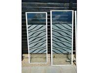 FREE large glass panels for garden etc. Also matching aluminium frame.