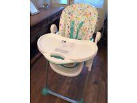 Mothercare i love sunshine arc high chair