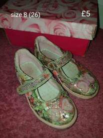 Various girls shoes infant size 7 and 8
