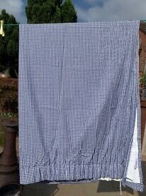 WHITE COMPANY BLUE GINGHAM CURTAINS