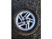 "Ford 14"" alloys two with new tyres"