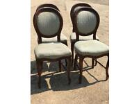 Four matching vintage balloon back chairs project