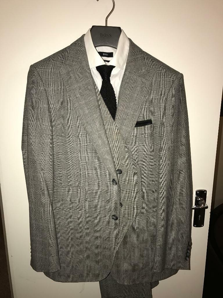 Selection of Hugo Boss suits and jackets for sale