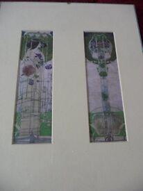 Rennie Mackintosh vintage prints - 2 in the frame