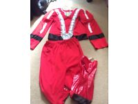 Fancy Dress Boys 6-7-8 yr Super Hero outfit clothes bundle top trousers mask hat