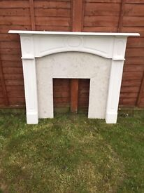 Marble fire surround and mantle piece