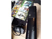 X Box 360. Boxed with 6 top games