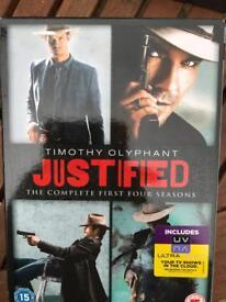 Justified - dvd box set - seasons 1-4