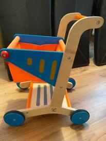 Hape wooden shopping trolley
