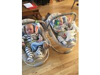 Comfort and Harmony baby bouncer (2 available)