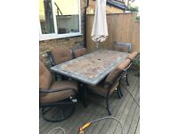 Setting for 6 Outdoor table and chairs - £80