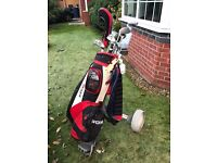 Regal golf bag with complete set of clubs and trolley £50 ono