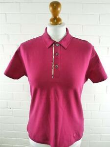 Ladies BURBERRY LONDON Pink Cotton Polo Nova Check Trimed Shirt Size 12-14 #4166