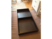 Under bed storage unit and extending shoe rack
