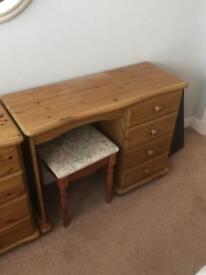 Desk and matching stool.