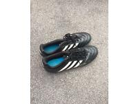 Black size 9 football boots, excellent condition