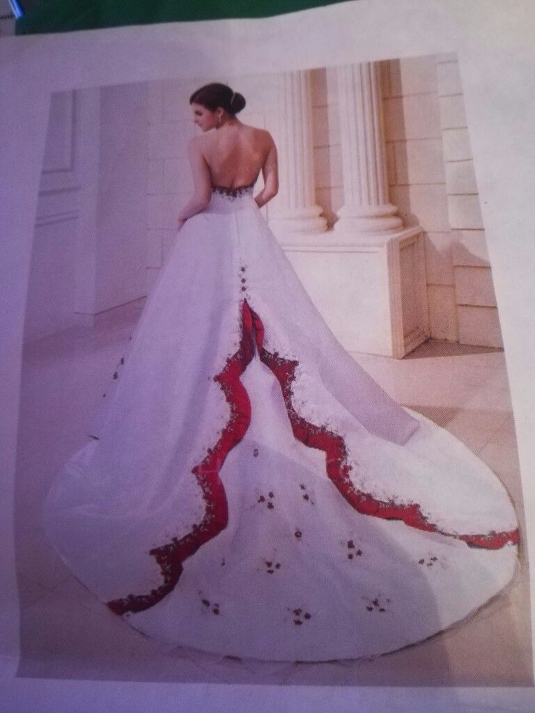 Red and white wedding dress for sale | in Rutherglen, Glasgow | Gumtree