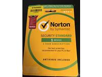Norton PC security 1 year subscription