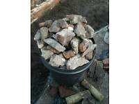 Rubble and smashed brick
