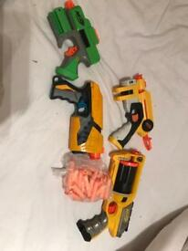 Collection of nerf toy guns