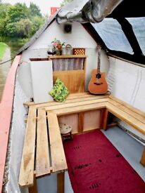 Narrowboat - Large Woolwich Butty - Historic - 72ft long - 7ft internal headspace