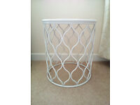 WHITE SIDE TABLE .. BANG ON TREND.. EYECATCHING DESIGN