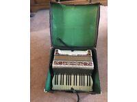 Antique full size keyboard accordion