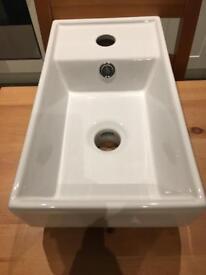 White basin - brand new and unused