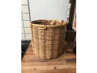 Round Rope Detail Wicker Storage Basket