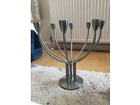 Silver Candelabra Candlestick Holder