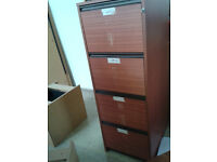solid filing cabinet with keys