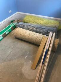 2 x Rolls 11mm good quality Underlay and some grippers