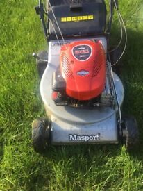 Masport (Briggs and Stratton) petrol lawnmower