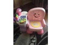 Fisher price laugh and learn chair singing lights and music