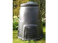 Black Plastic Compost Bin 330ltr